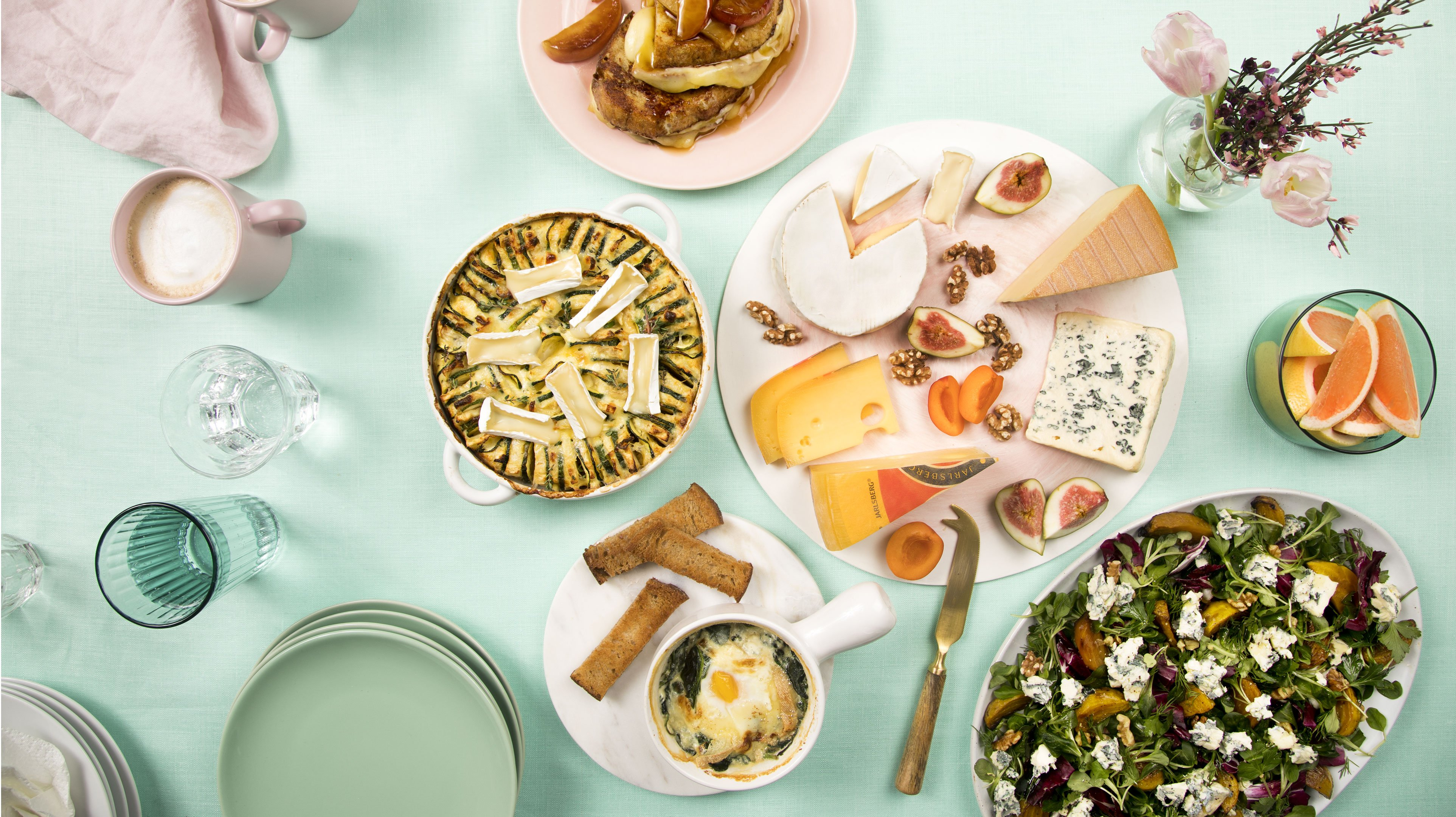 Cheese Bar's Easter Brunch savoury table