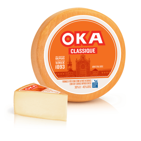 OKA Classique Cheese Wheel and Wedge
